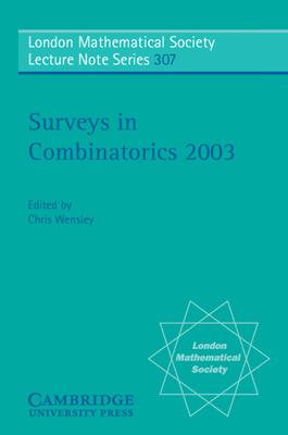 Surveys in Combinatorics 2003 - Wensley, C D (Editor)