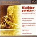 Telemann: St. Matthew Passion, 1754
