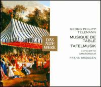 Telemann: Tafelmusik - Ad Mater (oboe); Anner Bylsma (cello); Brian Pollard (bassoon); Eugen B. Dombois (theorbo); Frans Brüggen (recorder);...
