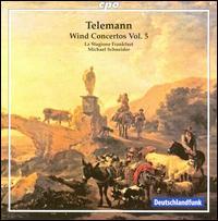 Telemann: Wind Concertos, Vol. 5 - Jörg Schultess (horn); Karl Kaiser (flute); Luise Baumgartl (oboe d'amore); Luise Baumgartl (oboe);...