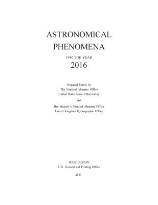 The Astronomical Almanac: GP100-17 - The Stationery Office (Editor), and U.S. Nautical Almanac Office (Editor), and Defense Department (Editor)