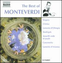 The Best of Monteverdi - Alessandro Carmignani (tenor); Carmen Leoni (harpsichord); Concerto delle Dame di Ferrara; Daniele Bovo (cello);...