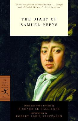 The Diary of Samuel Pepys - Pepys, Samuel, and Le Gallienne, Richard (Editor), and Stevenson, Robert Louis (Introduction by)