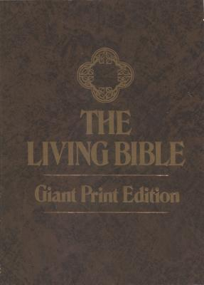 The Living Bible Giant Print Book By Tyndale House border=