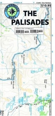 The Palisades Trail Map: MT Sill, MT Jepson, MT Winchell, Big Pine Lakes, Palisade Basin, North Palisade, Thunderbolt Peak, Norman Clyde Glacier, Middle Palisade Glacier: Shaded-Relief Topo Map -
