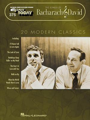 The Songs of Bacharach & David: E-Z Play Today Volume 375 - Bacharach, Burt (Composer), and David, Hal (Composer)