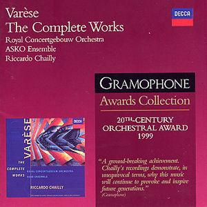 Varèse: The Complete Works - Riccardo Chailly