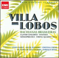 Villa-Lobos: Bachianas Brasileiras; Guitar Concerto; Fantasia; M�moprec�ce; String Quartet No. 6 - Angel Romero (guitar); Cristina Ortiz (piano); John Harle (sax); Jorge Federico Osorio (piano); The Hungarian Quartet;...