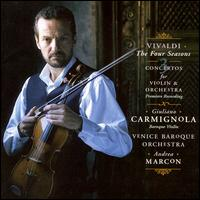 Vivaldi: The Four Seasons; Three Violin Concertos - Andrea Marcon (organ); Andrea Marcon (harpsichord); Giuliano Carmignola (baroque violin); Venice Baroque Orchestra;...