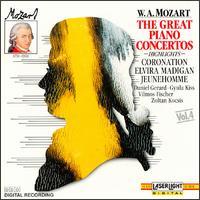 W.A. Mozart, Vol. 4: Great Piano Concertos - Daniel Gerard (piano); Gyula Kiss (piano); Vienna Mozart Ensemble; Vilmos Fischer (piano); Zoltán Kocsis (piano)