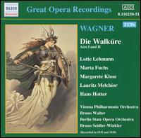 Wagner: Die Walküre (Acts 1 and 2) - Alfred Jerger (baritone); Ella Flesch (soprano); Emanuel List (bass); Hans Hotter (baritone); Lauritz Melchior (tenor);...