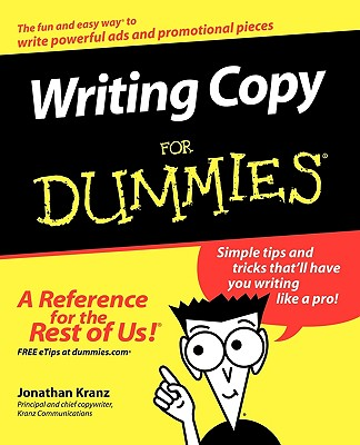 Writing Copy for Dummies - Kranz, Jonathan