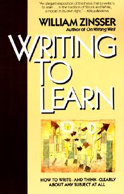 Writing to Learn Rc - Zinsser, William Knowlton